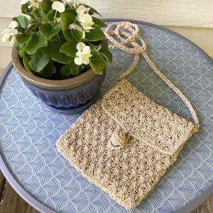 Handbags - Festival summer crossbody bag - off white crochet